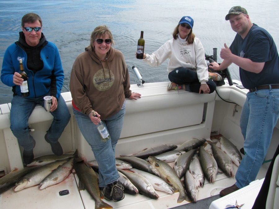 Cold Country Wine Catches Limits of Lake Trout